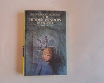 Nancy Drew The Hidden Window Mystery 1980s, Nancy Drew Number 34, Nancy Drew vintage book, 1980s Nancy Drew book
