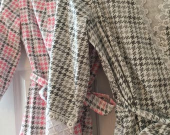 SALE  Houndstooth Plaid flannel robes