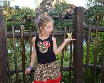 Safari, Cheetah, Minnie Mouse DRESS