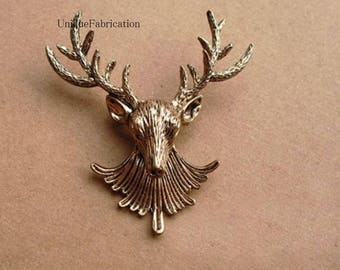 Bronze Colored Stag Deer Lapel Pin Brooch -Everyday / Weddings / Proms Game of Thrones Harry Potter
