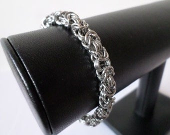 Stainless Steel Byzantine Chainmail Bracelet - Gothic Chainmaille Jewelry
