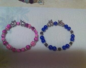 Double Elephant Charm Bracelet (2 choices)