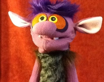 Hand Puppet Purple Dungeon Troll!