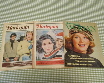 Harlequin Vintage Lot Magazines 1970's Era