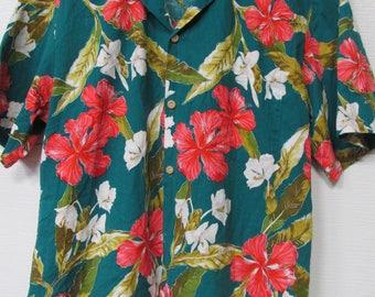 Paradise Found Honolulu, Hawaii Mens Tropical Print Shirt