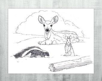 Classic Trio - Original Ink Drawing
