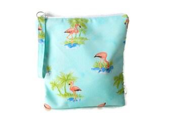 Flamingo wet bag, bikini bag, wet dry bag