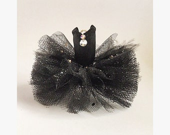 "Original (3""diameter) One Ornament Tutu - Black Swan"