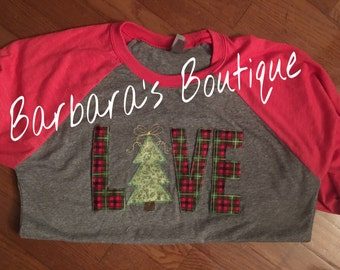 Holiday themed embroidered t-shirts