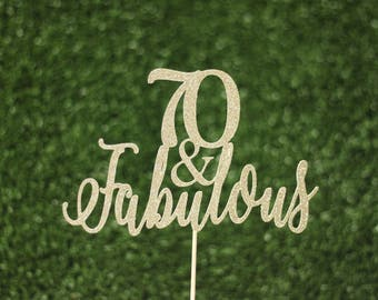 Number & Fabulous cake topper