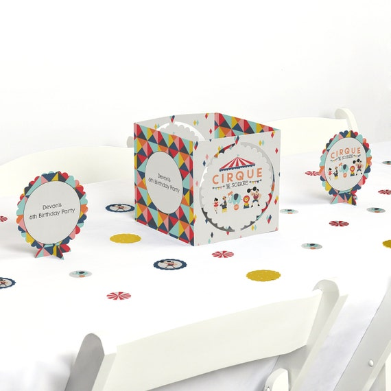 Circus carnival centerpiece table decoration kit