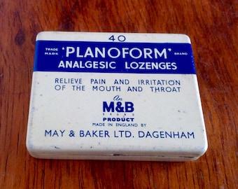 Small Vintage Lozenge Tin. 1930's