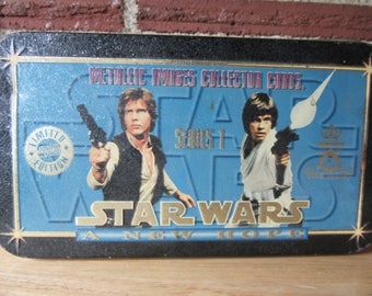 Star Wars A New Hope Series 1 Metallic Images Colectors Card, Star Wars Cards, Vintage Star Wars, Star Wars Cards,