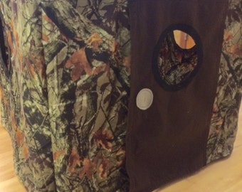 Camo card table playhouse