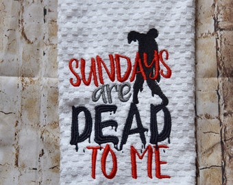 Embroidered Zombie Hand Towel
