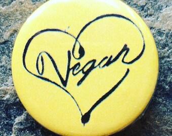 Pin Badge, Vegan Badge, Animal Lovers, 25mm