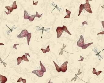 "NEW * fabric SANTORO ""life in pink"" santoro Butterfly"