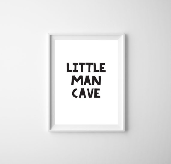 Little Man Cave Wall Art : Instant download the little man cave nursery wall