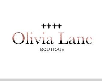 Olivia Lane, LOGO, ROSE GOLD, Mod, Half, Abstract, Crosses, Modern, Pre-made logo, premade, Design, Photographer, Blog Header, Watermark