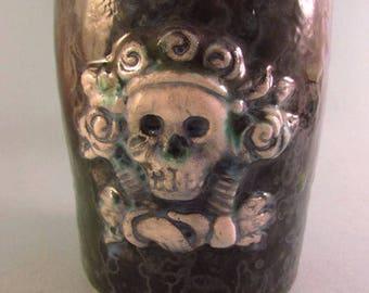 Creepy Skeleton Ceramic Mug