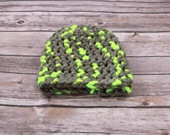 Crochet Newborn Boy Beanie