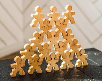 Wooden stacking blocks / Building blocks / Balancing toy / Imaginative play / Development toy