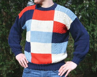 Hand Made VINTAGE MENS SWEATER