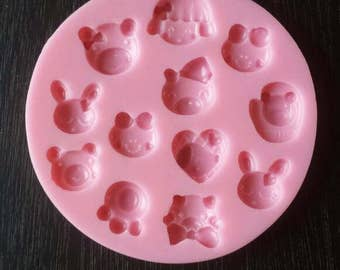 Cute tiny face mold - animal face mold