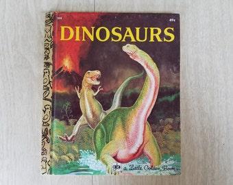 "Vintage Golden Book ""Dinosaurs"", ""Animals on a Farm"", ""Horses"""