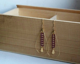 Earrings AMBER (bordeaux)
