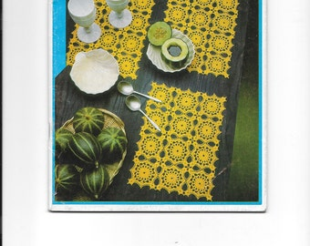 Vintage crochet pattern booklet for the home - 10 different patterns