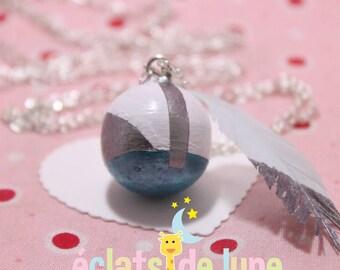 Silver Topaz white geometric pattern pregnancy's Bola
