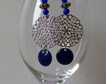 Earrings blue night - Made in FRANCE