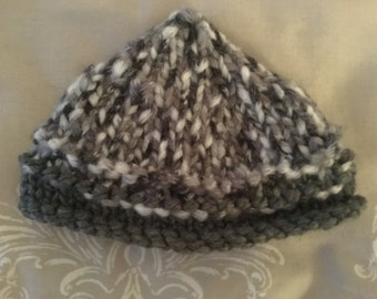 Warm and snug  newborn baby,  pixie hat.