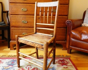 Antique Ash and Elm Country Chair Clun Chair Cottage Chair Rustic Primitive English
