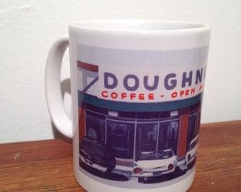 Doughnuts and Coffee Mug