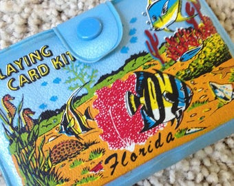 Florida Playing Card Kit in Snapping Turquoise Case