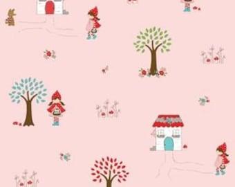 FQ Little Red Riding Hood Main in Pink by Tasha Noel OOP HTF Fat Quarter
