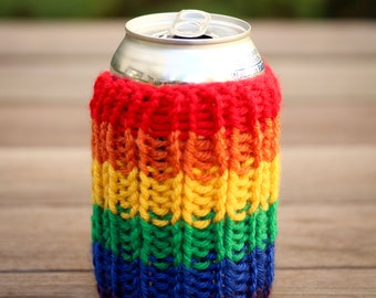Rainbow can cooler