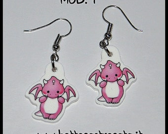 Dragon earrings 2 models cute cartoons
