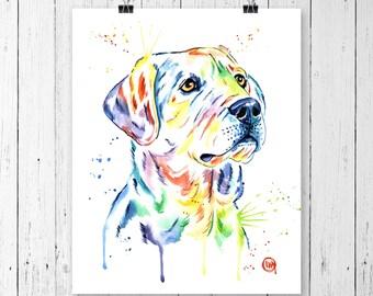 YELLOW LAB PRINT, yellow lab painting, yellow lab art, yellow lab watercolour, dog art, Pet Portrait,pet art, labrador retriever