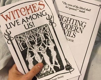 PRINTABLE Witches Live Among Us Pamphlet - Fantastic Beasts Replica!