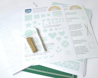 Kelly Cuts Paper Beginners Papercutting Kit - includes templates and tools