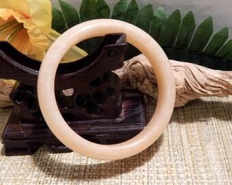 61mm Orange Yellow Jadeite Jade Bangle Bracelet Jewelry Crafts Supplies DIY Crafts