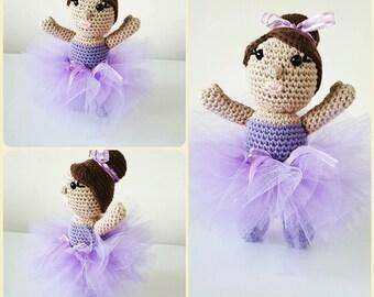 Halle the Ballerina Crochet Doll pattern - Amigurumi PDF Instant download