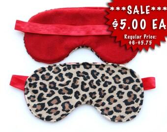 SALE!!! Cheetah Spa Eye Mask Sleeping Eye Mask Slumber party favor