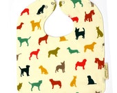 Dog Baby Bib, Puppy Baby Bib, Gift for Dog Lover, Organic Toddler Bib, Dog Baby Gift, Gender Neutral Bib, Baby Shower Gifts, Large Snap Bib