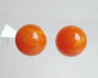 Orange 50s/60s Vintage Ear Clips