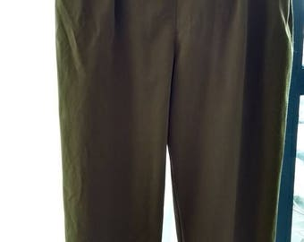 Green paper bag trousers