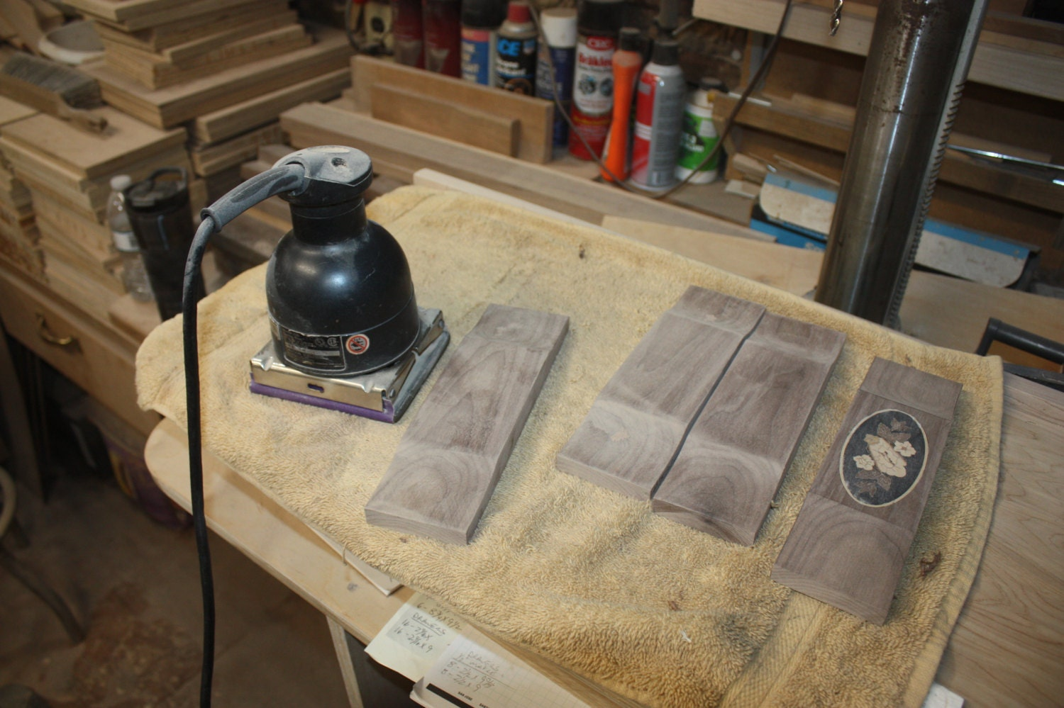 Sanding 4 Drawer Jewelry Box Fronts